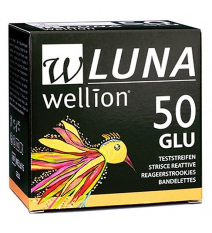 Тест-полоски Wellion Luna №50 glu (глюкоза),Австрия