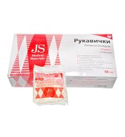 Перчатки латексные смотровые нестерильные опудренные JS р.L ,Jiangsu Suyun Medical Materials Co.,Ltd (Китай)