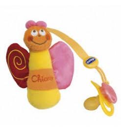 Карабин для пустышки с мягкой игрушкой, Сhicco