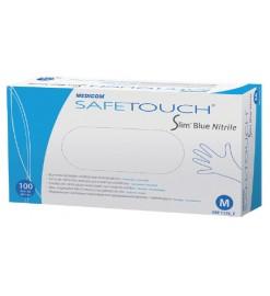Перчатки нитриловые неопудренные SafeTouch Slim Blue Nitrile, Medicom (Нидерланды)